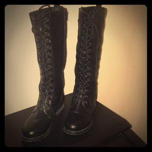 NEW Black Tie Up Boots